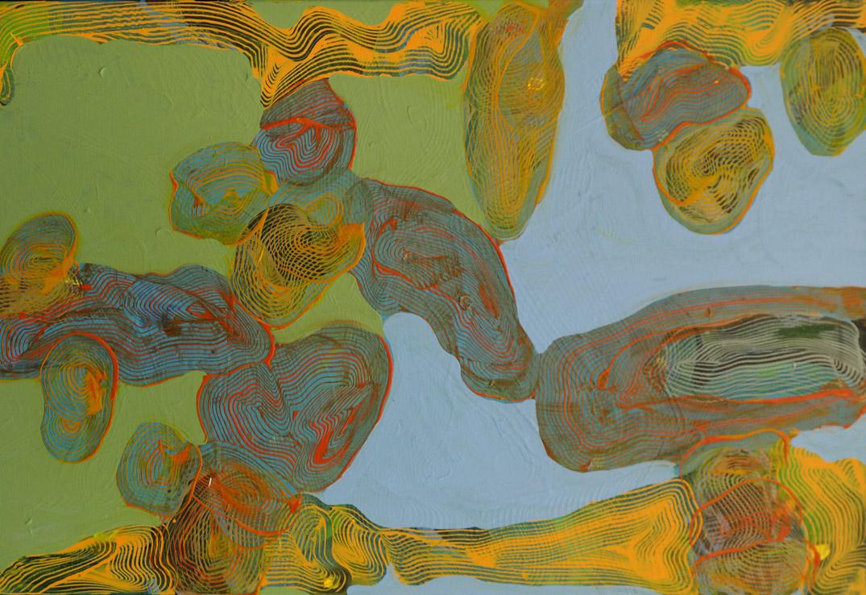 Robert Lartus hard-edge abstract painting
