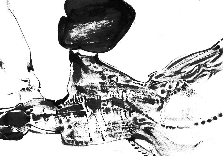 Eva Davis abstract drawing