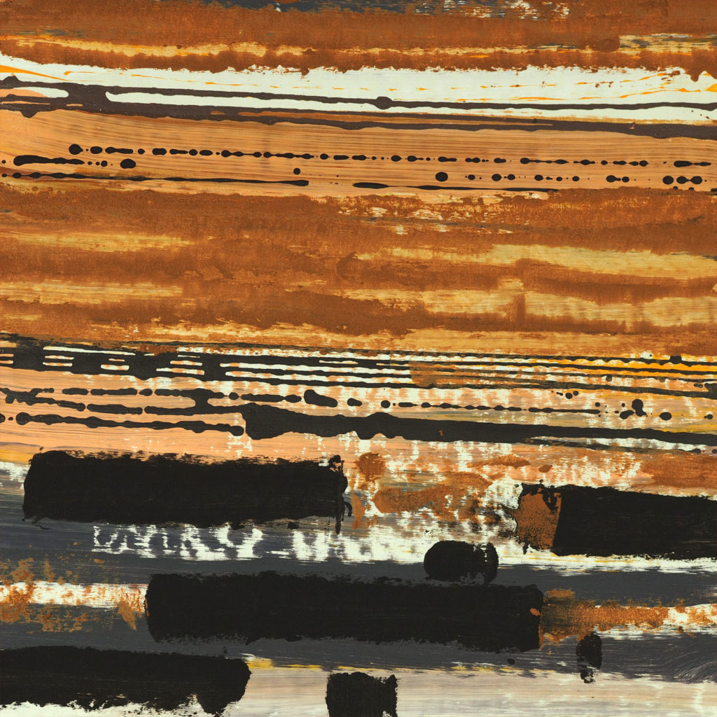 Bartos Saro landscape matter painting op-art